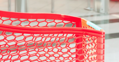 Red Shopping Cart | The Driven Mama